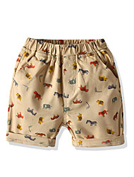 cheap -Kids Toddler Boys' Basic Street chic Print Shorts White