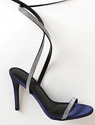 cheap -Women's Wedding Shoes Stiletto Heel Pointed Toe Synthetics Summer Black