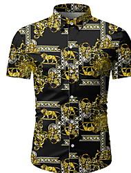 cheap -Men's Daily EU / US Size Shirt - Graphic Black / Short Sleeve