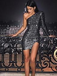 cheap -Women's Bodycon Dress - Solid Colored Black S M L XL