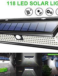 Недорогие -waza солнечный светильник 118 светодиодный пир датчик движения лампы на открытом воздухе ip65 водонепроницаемый солнечный садовые фонари аварийный свет безопасности солнечный настенный светильник
