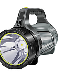 Недорогие -Ручные фонарики 100 lm Светодиодная лампа LED 1 излучатели с зарядным устройством Портативные Походы / туризм / спелеология Повседневное использование Велосипедный спорт Черный