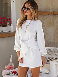 cheap -Women's Elegant Mini Slim Sheath Dress - Solid Colored Strap Black Blushing Pink Yellow S M L XL