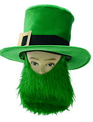 cheap -St Patrick's Day Pride Men's Costume Green Big Irish Beard Hat
