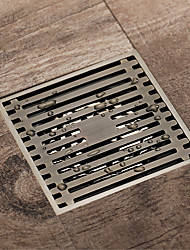 cheap -Bathroom Floor Drain 10x10cm Brass Antique Brass / Black / Rose Gold / Gold