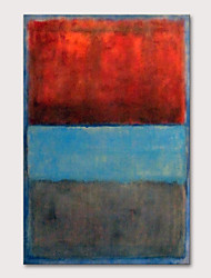 cheap -Oil Painting Hand Painted - Abstract Pop Art Modern Rolled Canvas