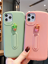 cheap -Soft Silica Gel Case for iPhone X Cute Cactus Fashion Cool Cover Skin Teens Girls Cases for iPhone 6 / iPhone 7/ iPhone 11 pro / Shockproof / Dustproof with Stand