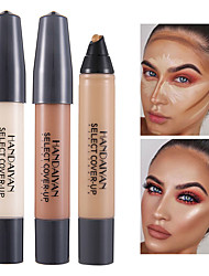 cheap -12 Colors 1 pcs Wet / Matte Long Lasting / Concealer / Uneven Skin Tone Lady / Cosmetic / Foundation # Matte / High Quality Waterproof / Portable / Women Party / Gift / Daily Wear Cream Makeup
