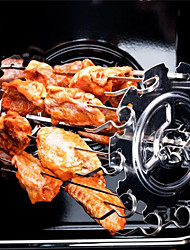 cheap -Grilled kebabs cage kebabs cage 304 stainless steel roast lamb kebabs roast chicken wings rotating grilled cage electric oven accessories
