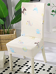cheap -High Quality Printed Kiddieland Spandex Chair Covers For Dining Room Chair Cover For Party Chair Cover For Wedding Living Room Chair Covers