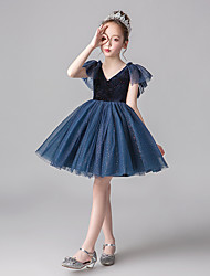 cheap -Princess Dress Girls' Movie Cosplay Cosplay Halloween Red / Ink Blue Dress Halloween Carnival Masquerade Tulle Polyester