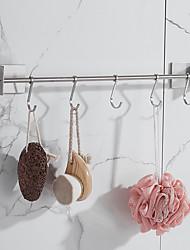 cheap -Rustproof 3M Self-adhesive 304# Stainless Steel Kitchen Rod Cloth Rod Tower Bar Hanger Bathroom Hook Brushed Nickel 45-60cm 3M02