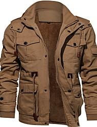 cheap -Men's Solid Colored Vest, Polyester Black / Army Green / Khaki US34 / UK34 / EU42 / US36 / UK36 / EU44 / US38 / UK38 / EU46