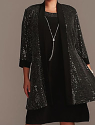 cheap -3/4 Length Sleeve Coats / Jackets Sequined Wedding Women's Wrap With Paillette