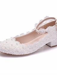 abordables -Femme Chaussures de mariage Talon Bottier Bout pointu Polyuréthane Printemps été Blanche / Rose / Mariage