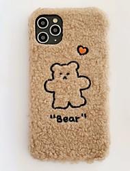 cheap -Fashion iPhone 11 Pro Max Case Cute Bear Heart Plush Case Protective Flexible Soft TPU Case for Apple iPhone 11 Pro Max /  iPhone 7/ iPhone 8 / iPhone X