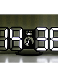 cheap -LED Alarm clock Black Plastics CR2032 Battery Simple Wake Up Clock