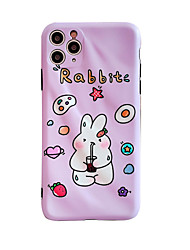 cheap -Cute Rabbit Case iPhone 7/8 Waterline Soft Case IMD Tech Top Sleek Smooth Texture Anti Scratch Unfading Coloring Premium TPU Slim Fit Case for iPhone 11 Pro Max Lucky Purple Phone Case For Girls