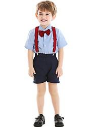 cheap -Kids Boys' Basic Color Block Short Sleeve Clothing Set Red