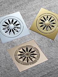 cheap -10x10cm Brass Floor Drain Bathroom Toilet Kitchen Anti Odor Drain Chrome / Antique Brass / Champagne Gold