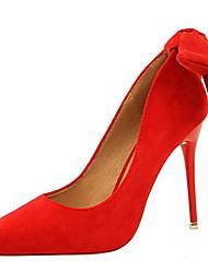 cheap -Women's Heels Stiletto Heel Pointed Toe Suede Winter Black / Camel / Green