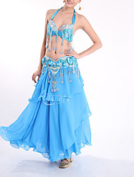 cheap -Belly Dance Outfits Women's Performance Polyester Beading / Tassel / Paillette Skirts / Top