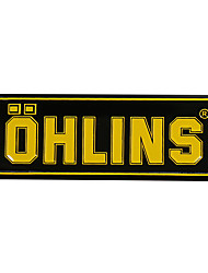 cheap -3D Aluminum Heat-resistant Motorcycle Exhaust Pipe Decal Sticker for OHLINS 5PCS Whole Sale
