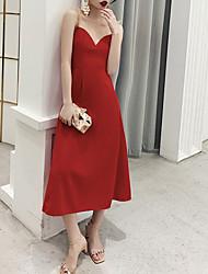 abordables -Trapèze Bijoux Longueur Genou Polyester Elégant Soirée Cocktail / Invité de mariage Robe 2020 avec Paillette
