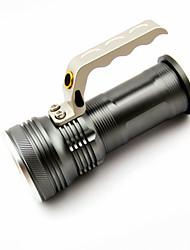 Недорогие -Ручные фонарики Водонепроницаемый 500 lm Светодиодная лампа LED 1 излучатели с зарядным устройством Водонепроницаемый Портативные