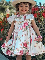 cheap -Kids Girls' Floral Dress White