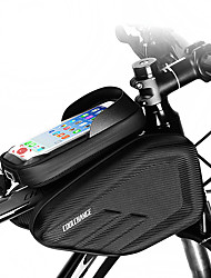 cheap -Cell Phone Bag Bike Frame Bag Top Tube 6.0/6.2 inch Double IPouch Headset Hole Rainproof Cycling for iPhone 7 iPhone 8 Plus / 7 Plus / 6S Plus / 6 Plus iPhone X Black Mountain Bike MTB / iPhone XR