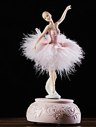cheap -Music Box Ballerina Music Box Wooden Music Box Antique Music Box Music Box Dancer Novelty Holiday Retro Creative Unique Resin ABS+PC Women's All Girls' Kid's Adults Child's 1 pcs Graduation Gifts Toy