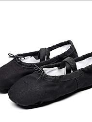cheap -Women's Ballet Shoes Canvas Flat Flat Heel Dance Shoes Black / White / Green