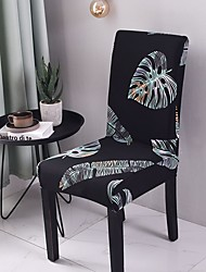 cheap -Chair Cover Plants / Print Printed Polyester Slipcovers
