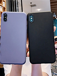 cheap -Phone Case For Apple Back Cover iPhone 11 Pro Max SE 2020 X XR XS Max 8 7 6 Ultra-thin Solid Color Silicone Silica Gel
