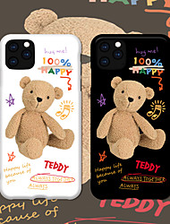 cheap -Fashion iPhone 11 Case Cute Vibrant IMD Cartoon Bear Frosted Case Slim Fit Soft Protective TPU Case for Apple iPhone 7 / iPhone 8