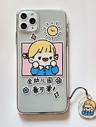 cheap -iPhone XR Case Clear Protective Case with Soft TPU Bumper Slim Thin Case for iPhone 7/ iPhone 8 / iPhone X Cute Cartoon Kindergarten Boy Girl iPhone Case with Pendant