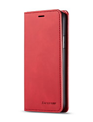 cheap -Foewenw Leather Case For Apple iPhone XS / iPhone XR / iPhone XS Max Wallet / Card Holder / Shockproof Full Body Cases Solid Colored Hard Genuine Leather Case