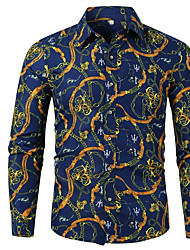 abordables -Chemise Homme, Graphique Bleu Marine