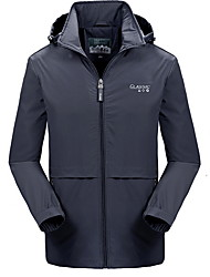 cheap -Men's Daily Fall & Winter Regular Jacket, Letter Hooded Long Sleeve Polyester Black / Army Green / Dark Gray