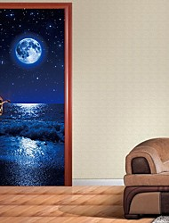 cheap -Landscape Wall Stickers Plane Wall Stickers Decorative Wall Stickers, PVC Home Decoration Wall Decal Wall Decoration 2pcs