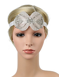 cheap -Retro Traditional / Classic Stretch Stripes / Fabrics Headpiece with Crystals / Ribbons / Glitter 1 / box Wedding / Carnival Headpiece