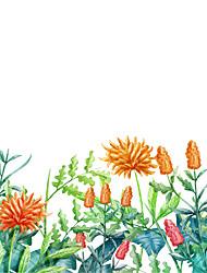 cheap -Green Plants Window Film & Stickers Decoration Matte / Floral Floral PVC(PolyVinyl Chloride) Window Sticker / Matte / Door Sticker 58*60cm