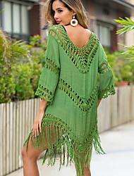 cheap -Women's Cover Up Swimsuit High Waist Blue Yellow Army Green Fuchsia Green Swimwear Bathing Suits
