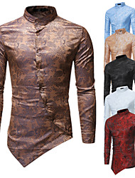 cheap -Plague Doctor Victorian Steampunk Blouse / Shirt Men's Costume Black / Golden / White Vintage Cosplay Party Halloween