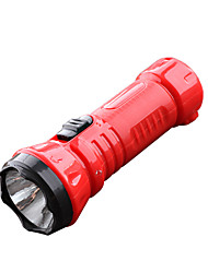 cheap -LED Flashlights / Torch 100 lm LED LED 1 Emitters 1 Mode Portable Camping / Hiking / Caving Everyday Use Cycling / Bike Black Red