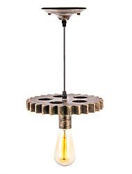 cheap -1-Light 20 cm Mini Style / Creative Pendant Light Metal Wood / Bamboo Mini Painted Finishes Artistic / Traditional / Classic 110-120V / 220-240V