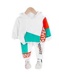 cheap -Baby Boys' Casual Color Block Patchwork / Print Long Sleeve Long Regular Clothing Set Black