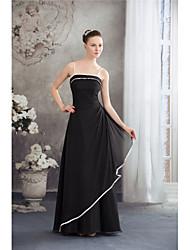 cheap -A-Line Spaghetti Strap Floor Length Chiffon Elegant Formal Evening Dress with Pleats 2020