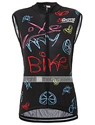 abordables -21Grams Femme Sans Manches Maillot Velo Cyclisme Térylène Noir Cyclisme Maillot Hauts / Top Vélo Route Séchage rapide Anti-transpiration Des sports Vêtement Tenue / Micro-élastique